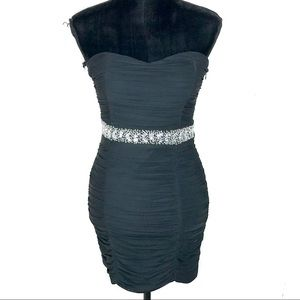 Nikibiki Black Rhinestone Tube Dress Size Medium